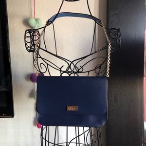 Kate Spade Navy Blue Purse with Chain